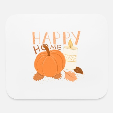 Fall HAPPY HOME Pumpkin and Candle alight HYGGE - Mouse Pad