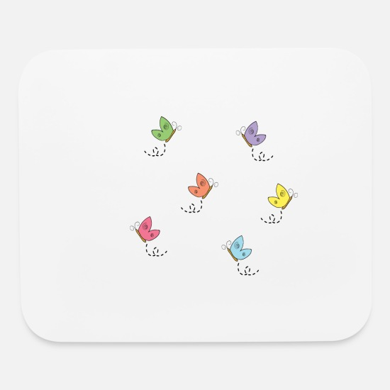 Butterfly Mouse Pads - Butterfly - Mouse Pad white