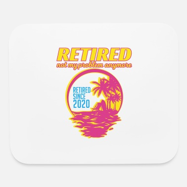 Sand Trendy Summer Retirement Shirt Retired Since - Mouse Pad
