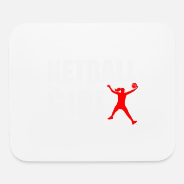 Jump Shot Netball Girl Funny Gift Idea - Mouse Pad