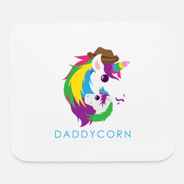 Birthday Unicorn Daddycorn Unicorn Dad Funny Gift Idea - Mouse Pad