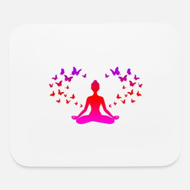 Sister Yoga Meditation Butterflies Mindfulness Gift Idea - Mouse Pad