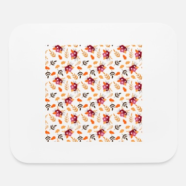 Fall Fall Pattern Fall Floral Fall Flowers - Mouse Pad
