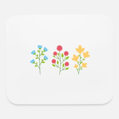 Silhouette Environmental protection gift environment flowers - Mouse Pad