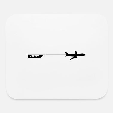 Vertex airplane - Mouse Pad