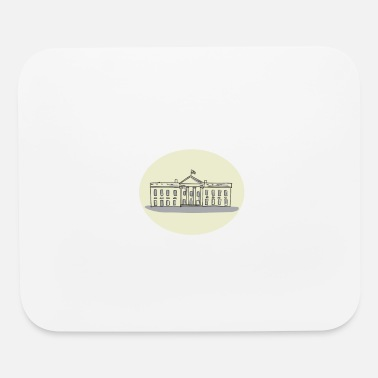 House Building White House Building Oval Drawing - Mouse Pad