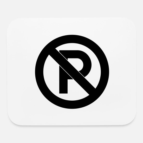 Road Sign Mouse Pads - No Parking - Mouse Pad white