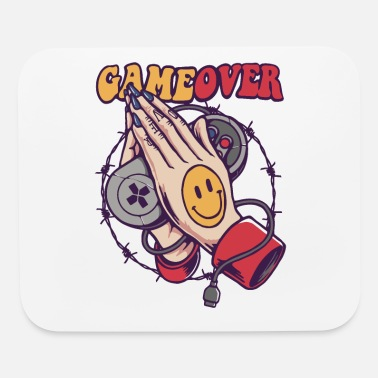 Game Over Smiley Game Over - Mouse Pad