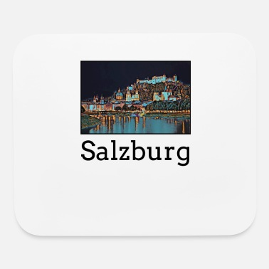 Salzburg Salzburg City Skyline Sights Silhouette Landmark - Mouse Pad