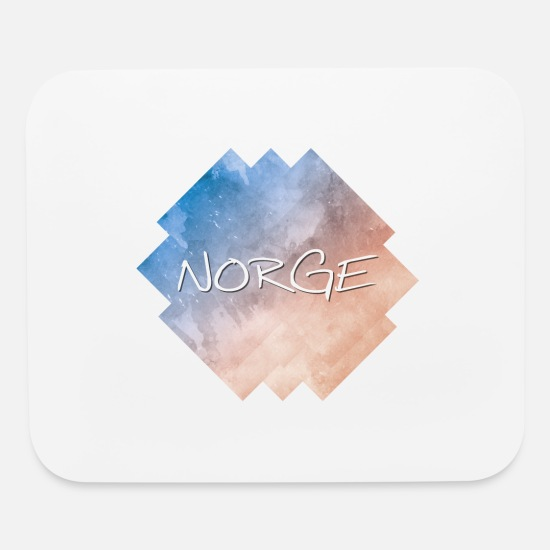 Country Mouse Pads - Norge - Norway - Mouse Pad white