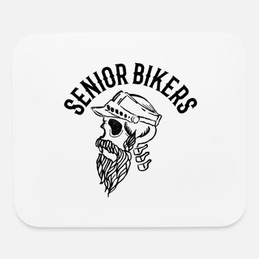 Tatoo Senior biker skull tatoo inscription - Mouse Pad
