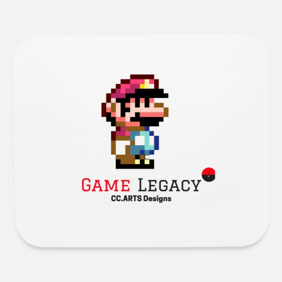 Luigi Mouse Pads - CC ARTS DESIGNS GAME LEGACY 2 - Mouse Pad white