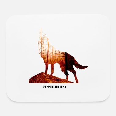 Naturalist Save the wolves - Mouse Pad