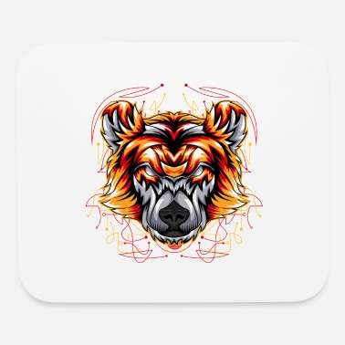 Rose bear angry face head - Mouse Pad