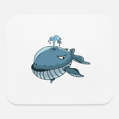 Whale Drawing whale comic draw - Mouse Pad