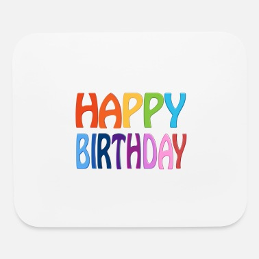 Birthday Greeting Happy Birthday - Happy Colourful Greeting - Mouse Pad