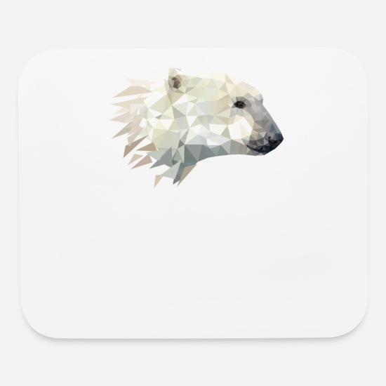 Polar Mouse Pads - Polar bear - Mouse Pad white