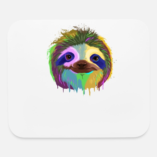 Sloth Mouse Pads - Splash Sloth - Mouse Pad white