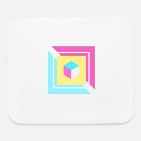 Play Mouse Pads - Gaming Cube - Mouse Pad white