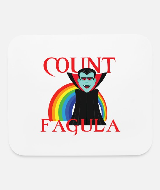 Bisexual Mouse Pads - Count Fagula! - Mouse Pad white