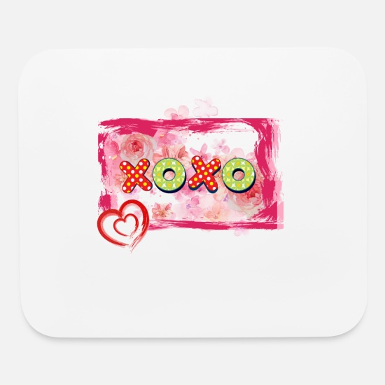 Watercolor Mouse Pads - Xoxo Frame - Mouse Pad white