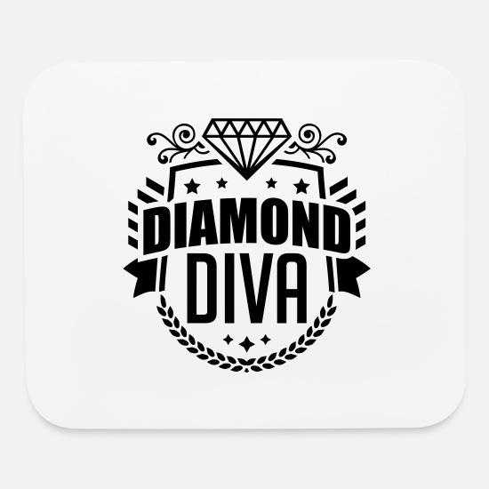 Diva Mouse Pads - diamond_diva_pi1 - Mouse Pad white