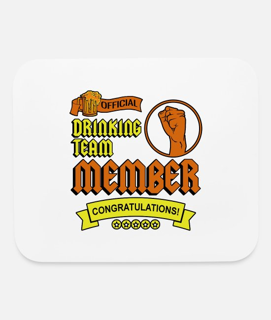 Beer Tent Mouse Pads - Official Drinking Team Member Congratulations - Mouse Pad white