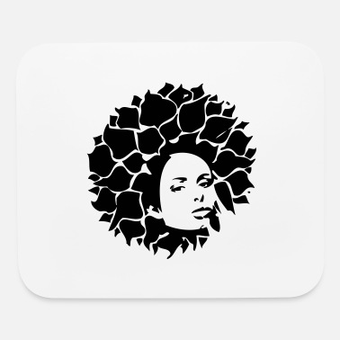 Hair Extensions afro girl - Mouse Pad