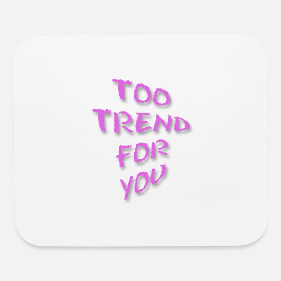 America Mouse Pads - too trend for you - Mouse Pad white
