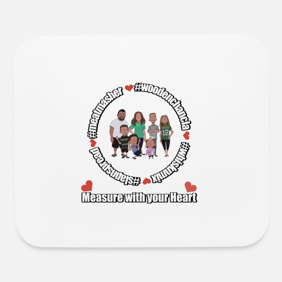 Fambam Mouse Pads - Measure with your Heart! - Mouse Pad white