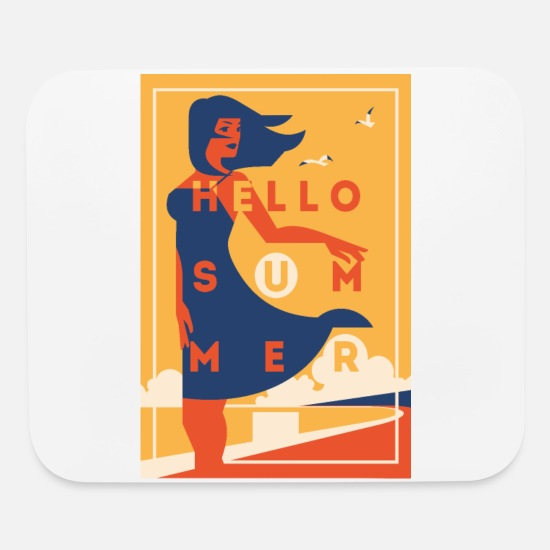 Gift Idea Mouse Pads - Hello Summer ! - Mouse Pad white