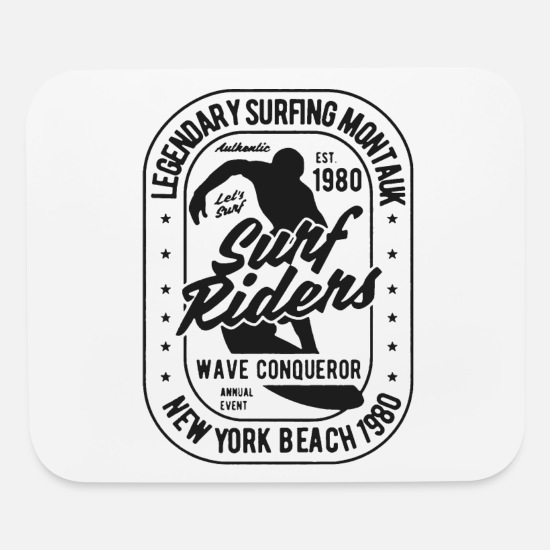 Water Sports Mouse Pads - legendary surfing rider 1 - Mouse Pad white