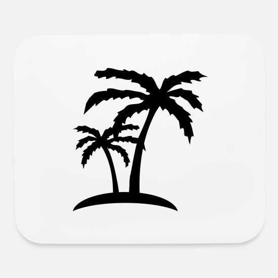 Beach Mouse Pads - palms - Mouse Pad white