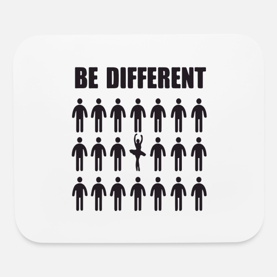 Love Mouse Pads - Be different - Mouse Pad white