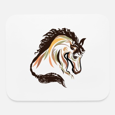 horse head painting art | horse head t-shirt - Mouse Pad