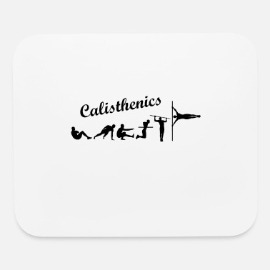 Street Workout Calisthenics Lettering Evolution - Mouse pad Horizontal