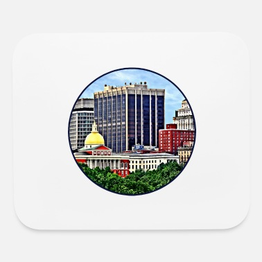 Commonwealth Boston MA - Skyline with Massachusetts State House - Mouse Pad