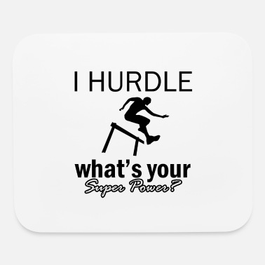 Hurdle hurdle design - Mouse Pad