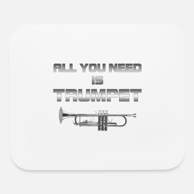 Trombone Colorful All you need is trumpet silver color - Mouse Pad
