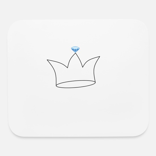 Crown Mouse Pads - Crown with Diamond - Mouse Pad white