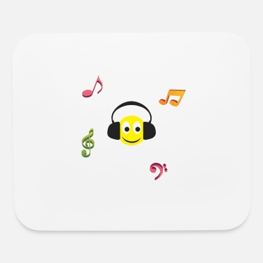 Smiley Headphones smiley face headphones - Mouse Pad
