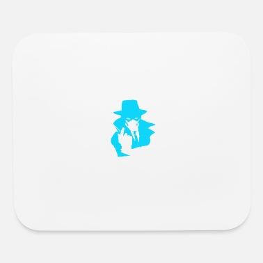 Mysterious man - lightblue - Mouse Pad