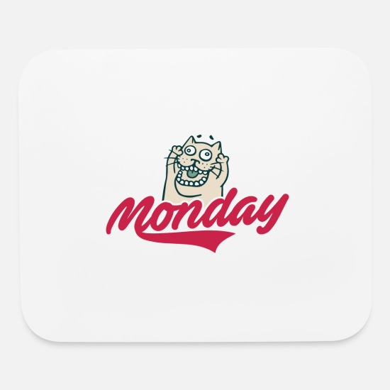 Lazy Mouse Pads - Monday - Mouse Pad white