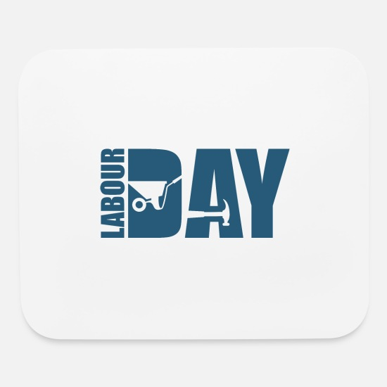 Kita Mouse Pads - Labour Day - Day of the year - Mouse Pad white