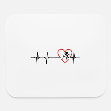 Hurdle hurdling design - Mouse Pad
