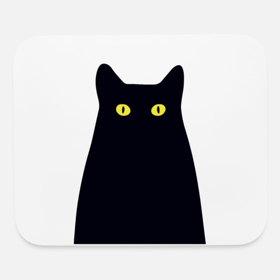 Pet Mouse Pads - The mysterious cat - Mouse Pad white