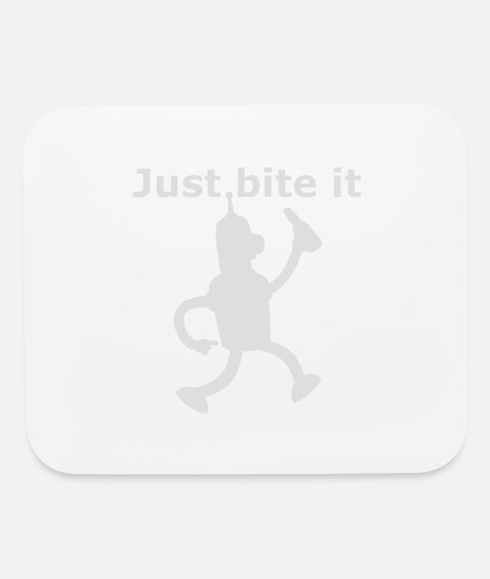 Movie Mouse Pads - Just bite it - Mouse Pad white