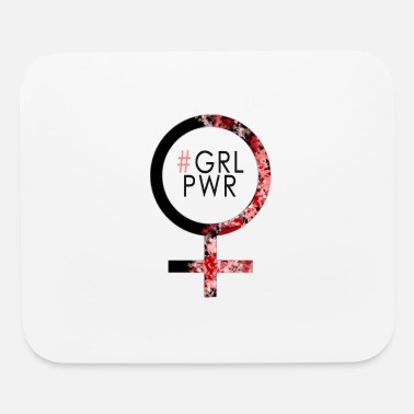 Power #GRLPWR Girl Power Woman Power - Mouse Pad