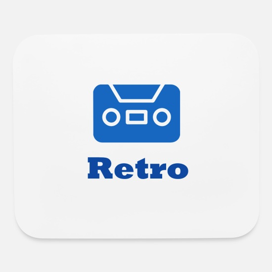 Contemporary Mouse Pads - Retro - Mouse Pad white