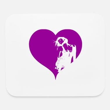 Gogo Gogo Dancer Heart Purple Gift - Mouse Pad